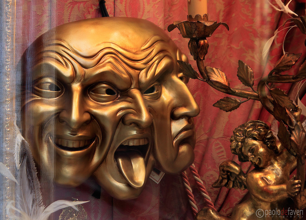 A carneval mask in a shop in Venice, Italy