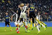 © Filippo Alfero<br /> Juventus-Inter, Serie A 2016/2017<br /> Torino, 05/02/2017<br /> sport calcio<br /> Nella foto: Leonardo Bonucci Juventus, Ivan Perisic Inter