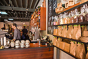 Hot Chocolate cafe interior in Wicker Park August 2, 2015 in Chicago, Illinois, USA.