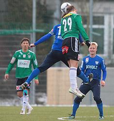 14.01.2012, Stadion Ried alt, Ried im Innkreis, AUT, 1.FBL, SV Josko Ried vs SV Scholz Groedig, im Bild (v.l.n.r.) Peter Riedl, (SV Scholz Groedig, #13) und Marcel Ziegl, (SV Josko Ried, #29), EXPA Pictures © 2012, PhotoCredit: EXPA/ R. Hackl