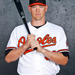 February 26, 2011; Sarasota, FL, USA; Baltimore Orioles catcher Matt Wieters (32) poses during photo day at Ed Smith Stadium.  Mandatory Credit: Derick E. Hingle