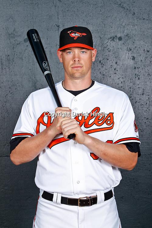 February 26, 2011; Sarasota, FL, USA; Baltimore Orioles catcher Matt Wieters (32) poses during photo day at Ed Smith Stadium.  Mandatory Credit: Derick E. Hingle