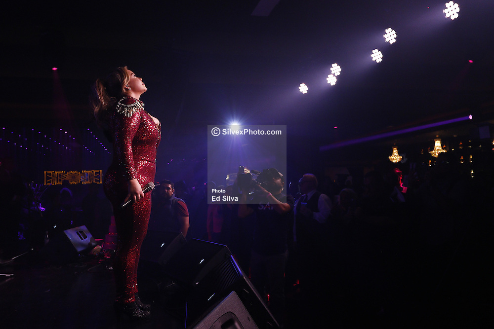 ANAHEIM, CA - December 01: Chiquis Rivera performs at the opening of Rumba Room LIVE in Anaheim, California USA on December 1, 2016. Byline, credit, TV usage, web usage or linkback must read SILVEXPHOTO.COM. Failure to byline correctly will incur double the agreed fee. Tel: +1 714 504 6870.