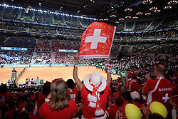 21.11.2014, Stade Pierre Mauroy, Lille, FRA, Davis Cup Finale, Frankreich vs Schweiz, im Bild Schweizer Fans im Stade Pierre Mauroy // during the Davis Cup Final between France and Switzerland at the Stade Pierre Mauroy in Lille, France on 2014/11/21. EXPA Pictures © 2014, PhotoCredit: EXPA/ Freshfocus/ Daniela Frutiger<br /> <br /> *****ATTENTION - for AUT, SLO, CRO, SRB, BIH, MAZ only*****