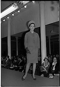 09/03/1964<br /> 03/09/1964<br /> 09 March 1964<br /> McBirney's Fashion show at McBirney's, Aston Quay, Dublin. Image shows model Mary wearing a frock/jacket.