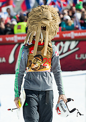 Second placed Robert Kranjec (SLO) as Eagle's mascot celebrates after Ski Flying Hill Individual Competition at Day 4 of FIS Ski Jumping World Cup Final 2016, on March 20, 2016 in Planica, Slovenia. Photo by Vid Ponikvar / Sportida