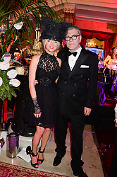 JACK VETTRIANO and SIOBHAN McKAY at The Animal Ball in aid of The Elephant Family held at Lancaster House, London on 9th July 2013.