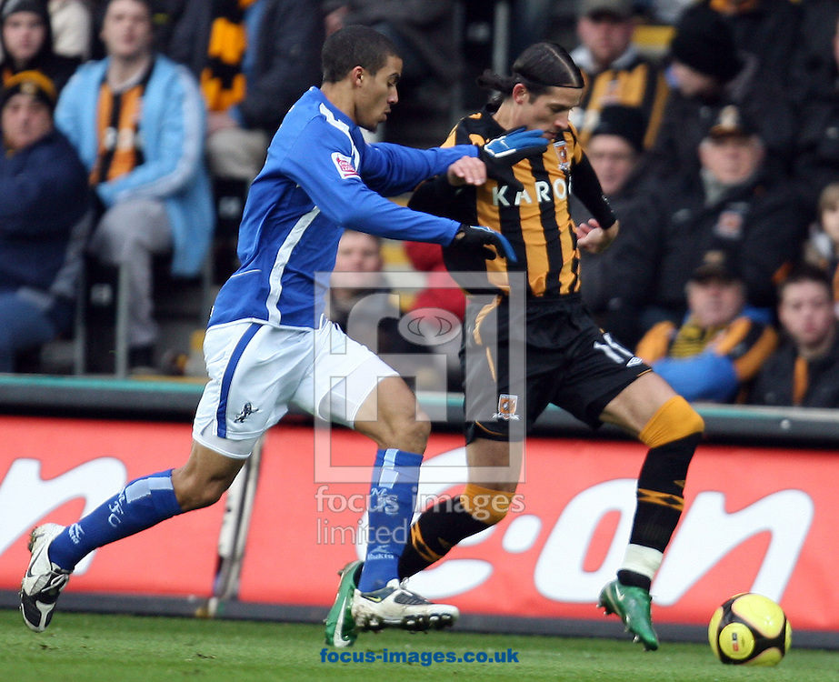 Hull - Saturday, January 24th, 2009: Peter Halmosi of Hull City takes on the millwall defence Millwall during the FA Cup fourth round match at the KC Stadium, Hull. (Pic by Darren Walker/Focus Images)