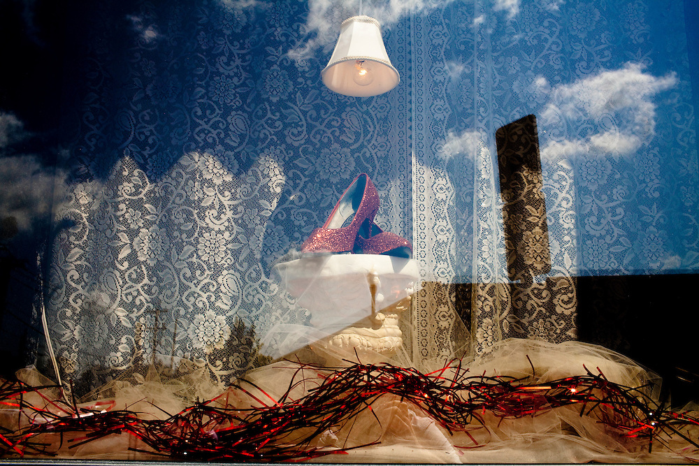 A store window in Lockport, NY, on Thursday, July 30, 2009.