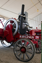 01 August 2014:   McLean County Fair.  Rawlings tractor at the antique tractor display.