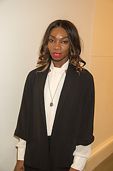 Actress MICHAELA COEL at the opening of the exhibition Champagne Life in celebration of 30 years of The Saatchi Gallery, held on 12th January 2016 at The Saatchi Gallery, Duke Of York's HQ, King's Rd, London.