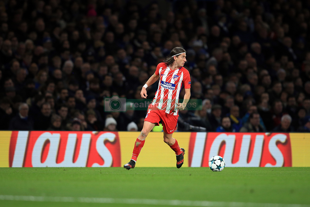 5 December 2017 -  UEFA Champions League (Group C) - Chelsea v Atletico Madrid - Filipe Luis of Atletico Madrid - Photo: Marc Atkins/Offside