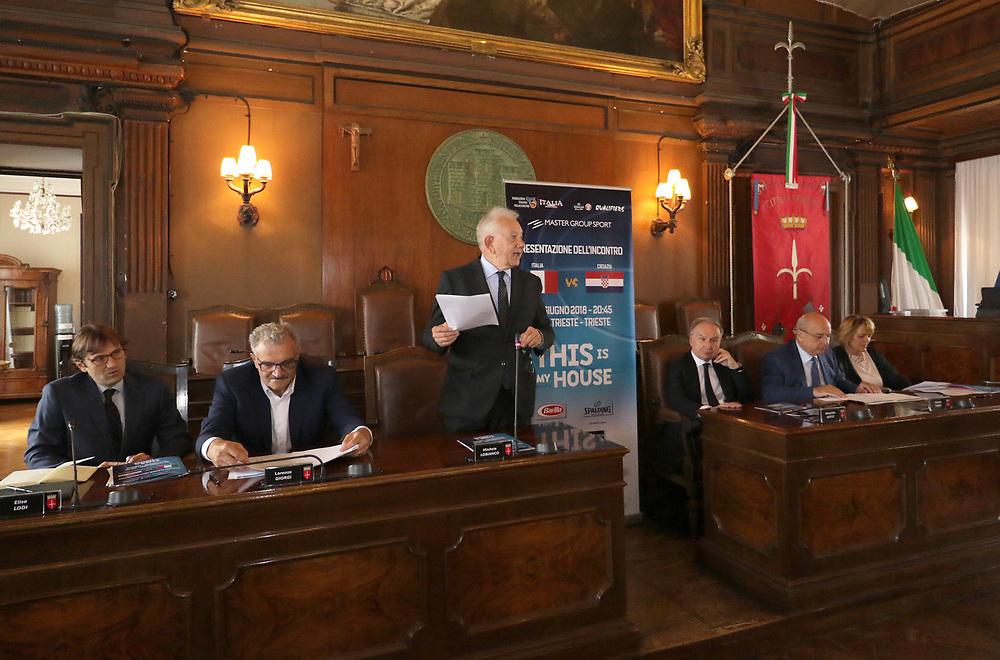 Conferenza Stampa Presentazione Italia - Croazia FIBA Basketball World Cup 2019 Qualifiers<br /> FIP 2018<br /> Trieste, 07/06/2018<br /> Foto Ciamillo-Castoria