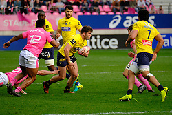 April 7, 2018 - Paris, France - Clermont Centre DAMIAN PENAUD in action during the French rugby championship Top 14 match between Stade Francais and Clermont at Jean Bouin Stadium in Paris - France..Stade Francais won 50-13 (Credit Image: © Pierre Stevenin via ZUMA Wire)