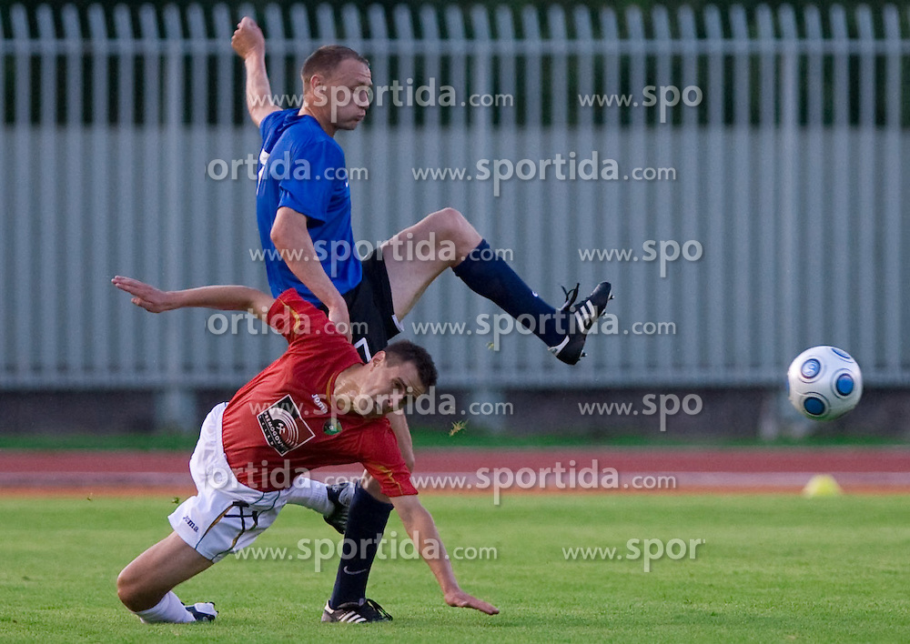 Rusmin Dedic of Rudar vs Aleksandr Tarassenkov at 1st Round of Europe League football match between NK Rudar Velenje (Slovenia) and Trans Narva (Estonia), on July 9 2009, in Velenje, Slovenia. Rudar won 3:1 and qualified to 2nd Round. (Photo by Vid Ponikvar / Sportida)