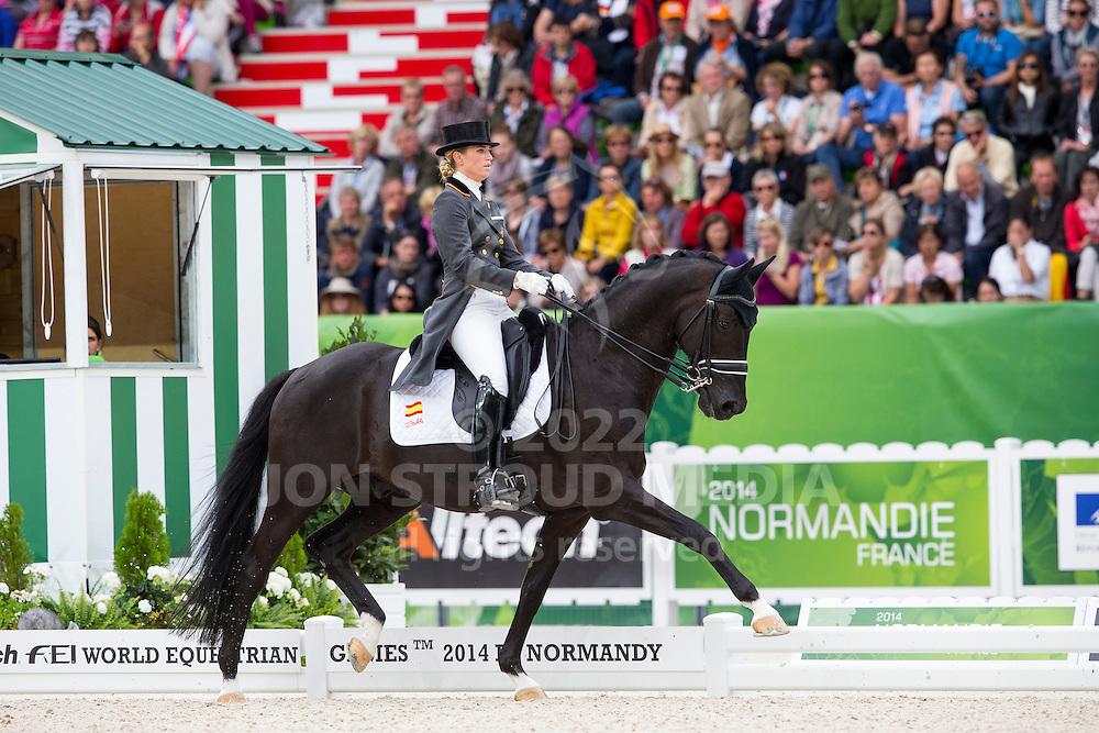 Morgan Barbancon Mestre, (ESP), Painted Black - Grand Prix Special Dressage - Alltech FEI World Equestrian Games&trade; 2014 - Normandy, France.<br /> &copy; Hippo Foto Team - Leanjo de Koster<br /> 25/06/14
