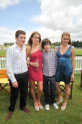 Left to right, the HON.PEREGRINE PEARSON, the HON.EMILY PEARSON, the HON.MONTAGUE PEARSON and the HON.ELIZA PEARSON  at the 2009 Veuve Clicquot Gold Cup Polo final at Cowdray Park Polo Club, Midhurst, West Sussex on 19th July 2009.