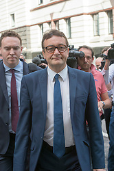 Image ©Licensed to i-Images Picture Agency. 04/07/2014. London, United Kingdom. Former News of The World journalist James Weatherup arrives for sentencing at the Old Bailey. Picture by i-Images