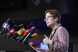 March 29, 2019 - Kyiv, Ukraine - Ambassador Extraordinary and Plenipotentiary of the United States to Ukraine Marie Yovanovitch delivers a speech during a briefing of the ENEMO International Election Observation Mission (IEOM) to Ukraine ahead of the 2019 presidential election due to take place on March 31, Kyiv, capital of Ukraine, March 29, 2019. Ukrinform. (Credit Image: © Danil Shamkin/Ukrinform via ZUMA Wire)