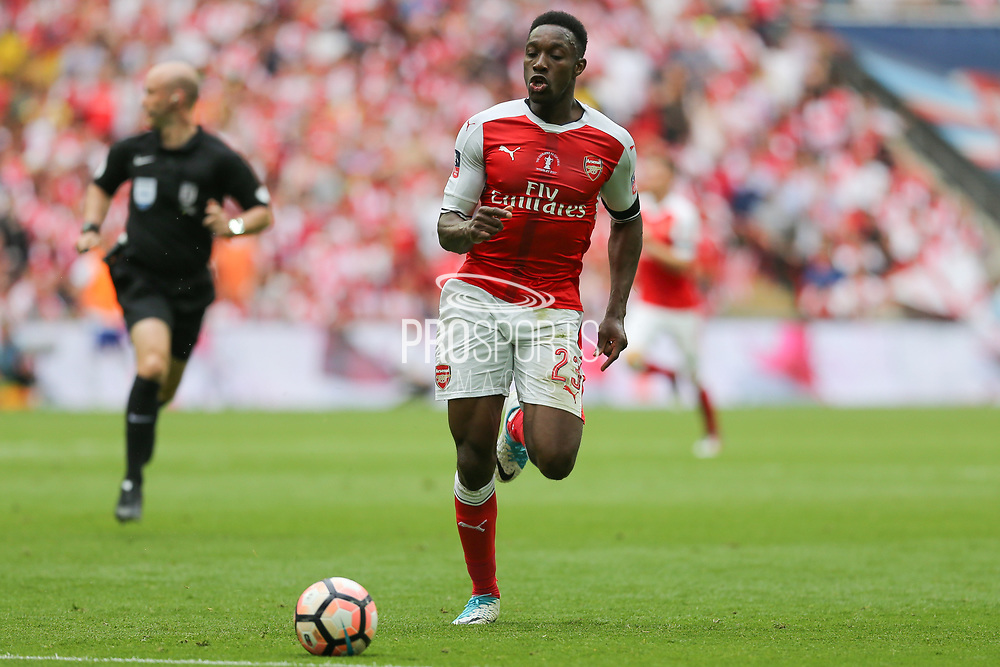 Arsenal's Danny Welbeck(23) runs forward during the The FA Cup final match between Arsenal and Chelsea at Wembley Stadium, London, England on 27 May 2017. Photo by Shane Healey.