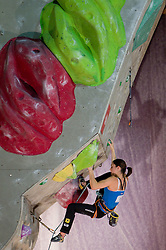 Katharina Posch of Austria during Final IFSC World Cup Competition in sport climbing Kranj 2010, on November 14, 2010 in Arena Zlato polje, Kranj, Slovenia. (Photo By Vid Ponikvar / Sportida.com)