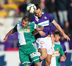 08.03.2015, Generali Arena, Wien, AUT, 1. FBL, FK Austria Wien vs SK Rapid Wien, 24. Runde, im Bild Steffen Hofmann (SK Rapid Wien) und James Holland (FK Austria Wien) // during Austrian Football Bundesliga Match, 24th Round, between FK Austria Vienna and SK Rapid Wien at the Generali Arena, Vienna, Austria on 2015/03/08. EXPA Pictures © 2015, PhotoCredit: EXPA/ Thomas Haumer