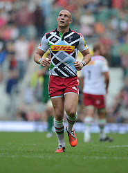 Harlequins Full Back Mike Brown- Photo mandatory by-line: Alex James/JMP - 07966 386802 - 06/09/2014 - SPORT - RUGBY UNION - London, England - Twickenham Stadium - Saracens v Wasps - Aviva Premiership London Double Header.