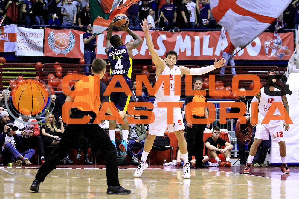 DESCRIZIONE : Milano Euroleague 2013-14 EA7 Emporio Armani Milano Fenerbahce Ulker Istanbul<br /> GIOCATORE : McCalebb Bo<br /> CATEGORIA : Tiro<br /> SQUADRA :  Fenerbahce Ulker Istanbul<br /> EVENTO : Eurolega Euroleague 2013-2014 GARA : EA7 Emporio Armani Milano Fenerbahce Ulker Istanbul<br /> DATA : 30/01/2014<br /> SPORT : Pallacanestro <br /> AUTORE : Agenzia Ciamillo-Castoria/I.Mancini<br /> Galleria : Eurolega Euroleague 2013-2014 <br /> Fotonotizia : Milano Eurolega Euroleague 2013-14 EA7 Emporio Armani Milano Fenerbahce Ulker Istanbul<br /> Predefinita