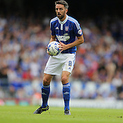 Ipswich Town midfielder Cole Skuse holds the ball during the Sky Bet Championship match between Ipswich Town and Brighton and Hove Albion at Portman Road, Ipswich, England on 29 August 2015.