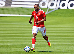 VALE DO LOBO, PORTUGAL - Sunday, May 29, 2016: Wales' captain Ashley Williams during a Wales v Wales training match on day six of the pre-UEFA Euro 2016 training camp at the Vale Do Lobo resort in Portugal. (Pic by David Rawcliffe/Propaganda)