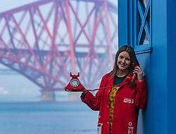 *All content strictly embargoed until 0001 February 16 2017*<br /> The Edinburgh International Science Festival has been launched by the festival's creative director, Amanda Tyndall. A police box filled with 101 Scottish inventions which is part of the Moments In Time exhibition is placed on a beach overlooking the Forth Bridge.