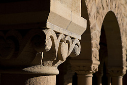 Detailed view of a column on the main quad, Stanford University, Stanford, California, United States of America