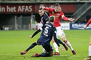 (L-R) Michael Liendl of FC Twente, Stefan Thesker of FC Twente, Wout Weghorst of AZ Alkmaar