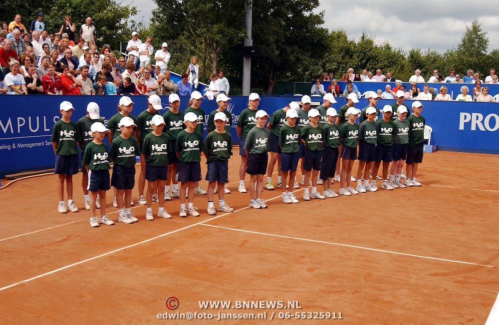 Hilversum Open 2003, Martin Verkerk - John van Lottum, scheidsrechters, linesman en ballenjongens