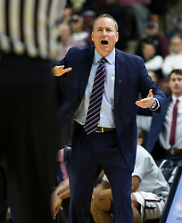 Texas A&M head coach Billy Kennedy reacts after a call during the second half of an NCAA college basketball game against LSU Saturday, Jan. 6, 2018, in College Station, Texas. (AP Photo/Sam Craft)