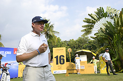 March 22, 2019 - Kuala Lumpur, Malaysia - Ernie Els of South Africa eats an apple on Day Two of the Maybank Championship at Saujana Golf and Country Club on March 22, 2019 in Kuala Lumpur, Malaysia. (Credit Image: © Chris Jung/NurPhoto via ZUMA Press)