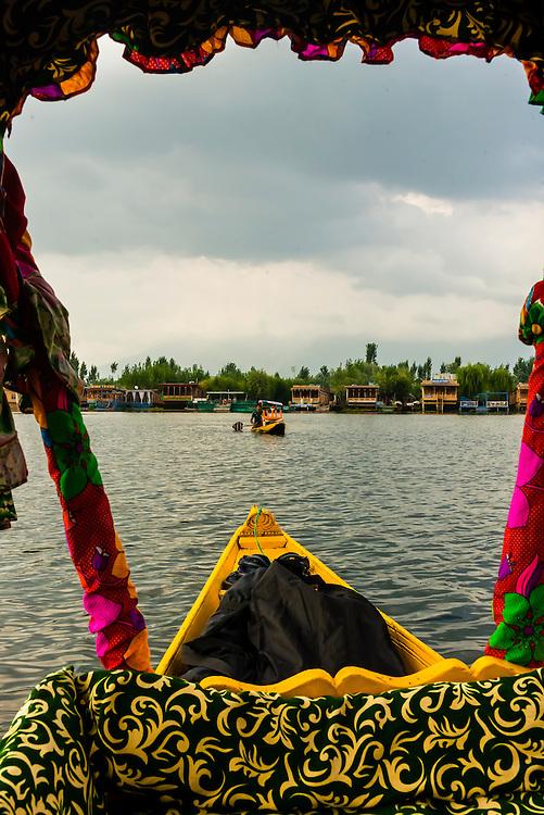 Shikara (boat),  Dal Lake in Srinagar, Kashmir, Jammu and Kashmir State, India.