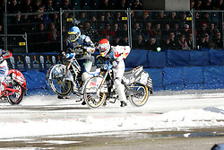 13.03.2016, Assen, BEL, FIM Eisspeedway Gladiators, Assen, im Bild Start von Franz Zorn (AUT) // during the Astana Expo FIM Ice Speedway Gladiators World Championship in Assen, Belgium on 2016/03/13. EXPA Pictures © 2016, PhotoCredit: EXPA/ Eibner-Pressefoto/ Stiefel<br /> <br /> *****ATTENTION - OUT of GER*****