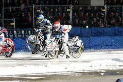 13.03.2016, Assen, BEL, FIM Eisspeedway Gladiators, Assen, im Bild Start von Franz Zorn (AUT) // during the Astana Expo FIM Ice Speedway Gladiators World Championship in Assen, Belgium on 2016/03/13. EXPA Pictures &copy; 2016, PhotoCredit: EXPA/ Eibner-Pressefoto/ Stiefel<br /> <br /> *****ATTENTION - OUT of GER*****