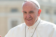 May 10, 2017: Pope Francis greets the faithful as he arrives to celebrate his Weekly General Audience in St. Peter's Square in Vatican City. Antoine Mekary   Aleteia   I.Media