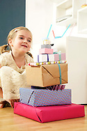 Girls, Birthday, Gift Box, Stack, Generosity, Joy,