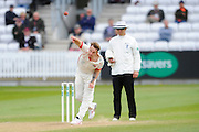 Lancashire's Kyle Jarvis during the Specsavers County Champ Div 1 match between Somerset County Cricket Club and Lancashire County Cricket Club at the County Ground, Taunton, United Kingdom on 3 May 2016. Photo by Graham Hunt.