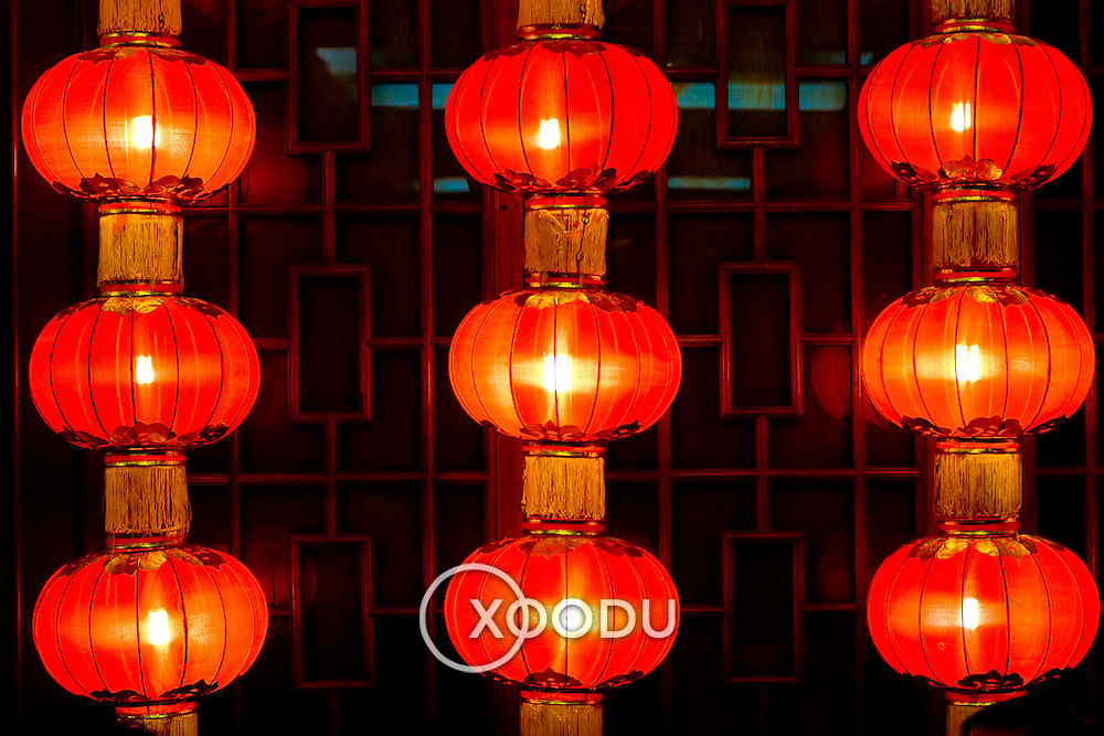 Red chinese lanterns (Beijing, China - Sep. 2008) (Image ID: 080920-1947083a)