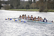 Henley, GREAT BRITAIN,  Men's OJ14 8X+, Bryanston School BC, passing Upper Thames RC, National Junior Sculling Head, Henley on Thames,   03/03/2008  2008. [Mandatory Credit, Peter Spurrier/Intersport-images] Rowing Courses, Henley Reach, Henley, ENGLAND