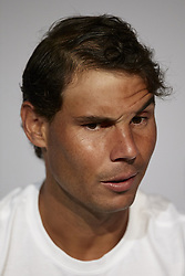 May 9, 2018 - Madrid, Madrid, Spain - Rafael Nadal of Spain attends a press conference during day five of the Mutua Madrid Open tennis tournament at the Caja Magica on May 9, 2018 in Madrid, Spain  (Credit Image: © David Aliaga/NurPhoto via ZUMA Press)