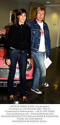 SIMON & YASMIN LE BON at a reception in London on 17th October 2003.<br /> PNO 31