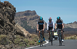 F.A.O Lisa McCLean Daily Telegraph picture desk. ©Ben Cawthra. 19/05/2012. Tenerife, Spain. Three time Olympic gold medalist, cyclist Bradley Wiggins (centre)  training with the SKy Pro Cycling team on the roads surrounding the volcanic island of Tenerife in Spain. Photo credit: Ben Cawthra