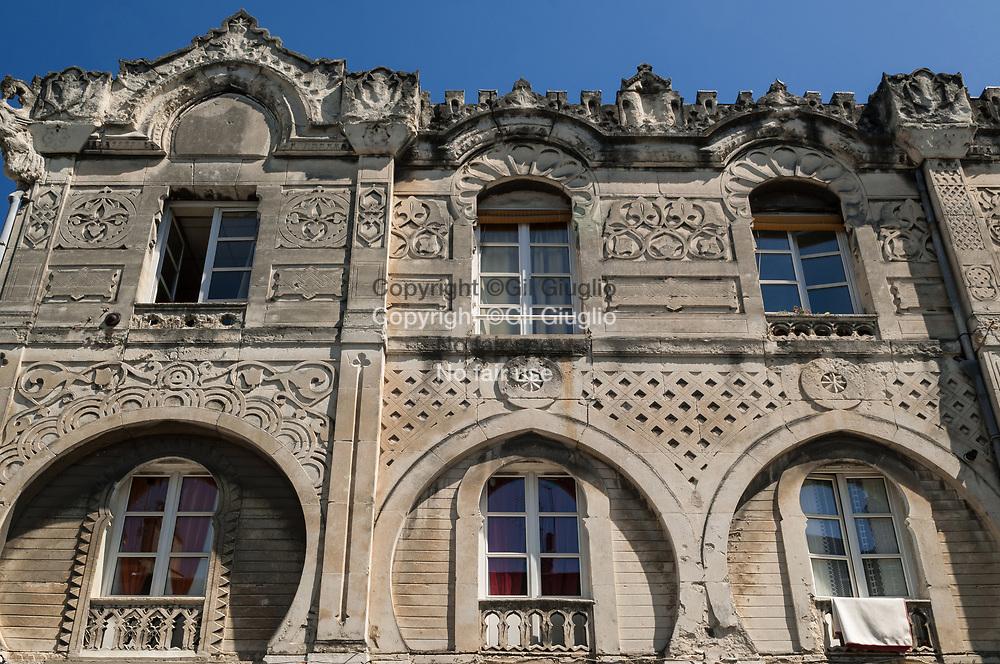 France, Auvergne-Rhône-Alpes, Drôme (26), centre-ville de Valence, Maison Mauresque in downton // France,  Auvergne Rhone Alpes region, department of Drome, downtown, Valence city, Maure house in downtown