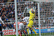 Newcastle United Goalkeeper Rob Elliot makes a vital save  during the Barclays Premier League match between Newcastle United and Stoke City at St. James's Park, Newcastle, England on 31 October 2015. Photo by Craig McAllister.
