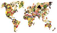 World Map in Fruit & Veg